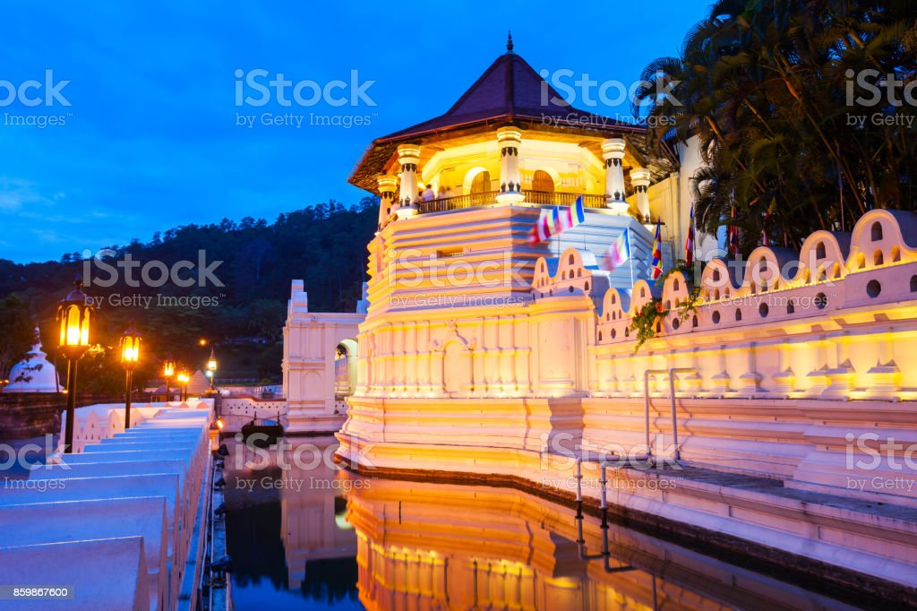 Sacred Tooth Relic Temple stock photo