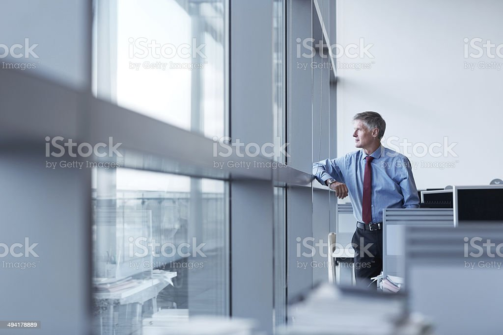 Sacrifice and hard work got him to the top stock photo