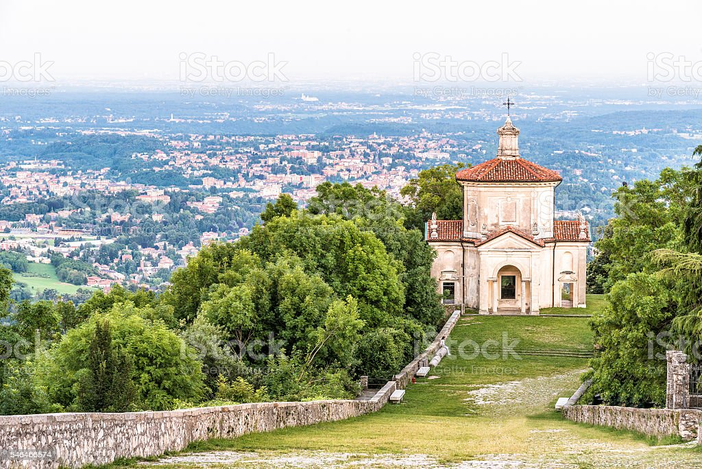 Sacro Monte di Varese or Sacred Mount, Italy stock photo