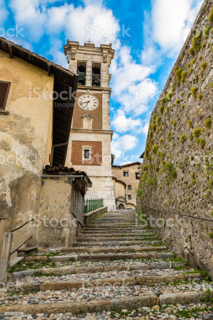 Sacro Monte of Varese (Santa Maria del Monte), medieval village, Italy - In 2003 entered from UNESCO in list of World Heritage stock photo