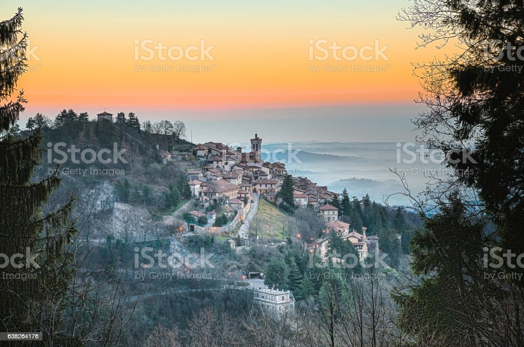 Sacro Monte of Varese, World Heritage Site, Varese - Italy stock photo