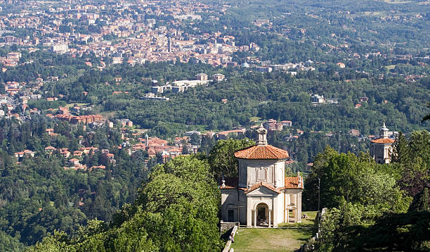 Sacro Monte Varese Aerial view  sacrum stock pictures, royalty-free photos & images