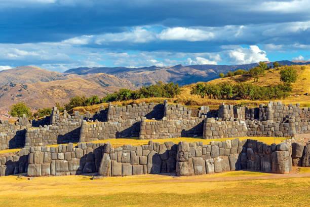 Sacsayhuaman Inca Ruin, Cusco, Peru stock photo