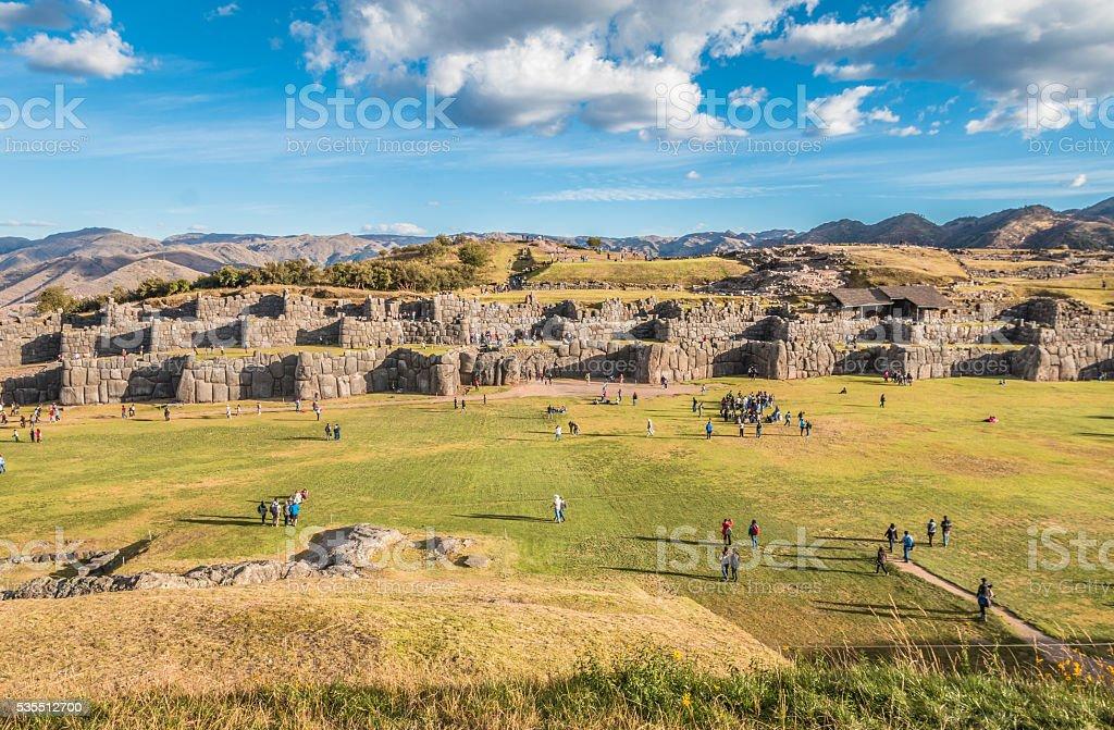 Sacsayhuaman Inca ruins, Peru stock photo