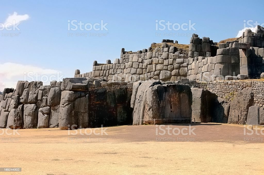 Sacsayhuaman Incan Fortification At Cusco stock photo