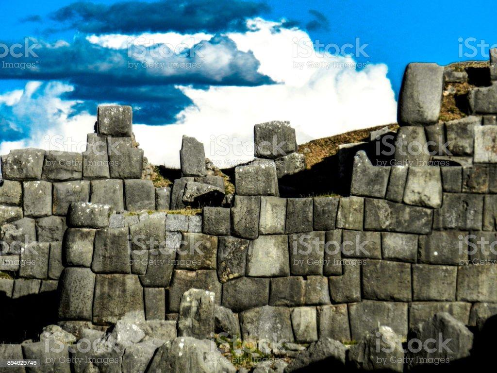 Sacsayhuaman Peru stock photo