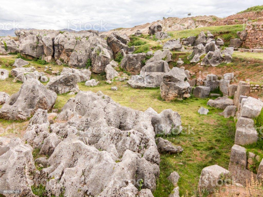 Sacsayhuaman Ruins, Cuzco, Peru stock photo
