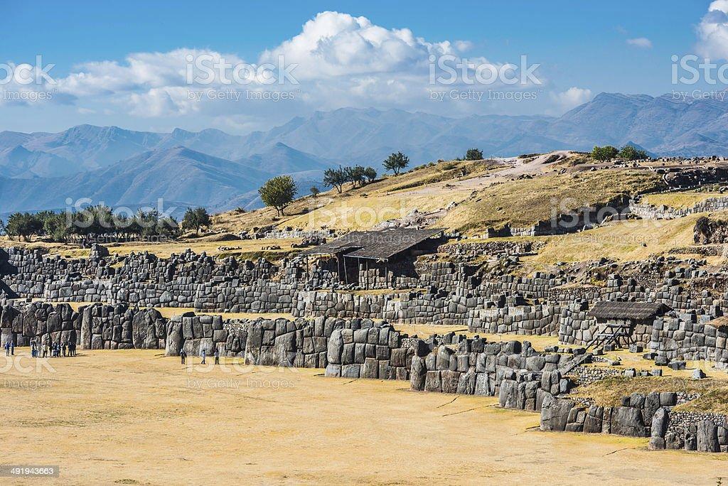 Sacsayhuaman ruins peruvian Andes Cuzco Peru stock photo