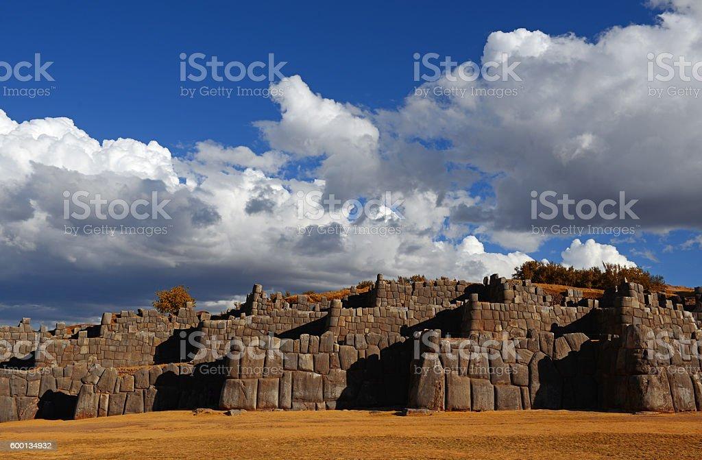 Sacsayhuaman Ruins stock photo