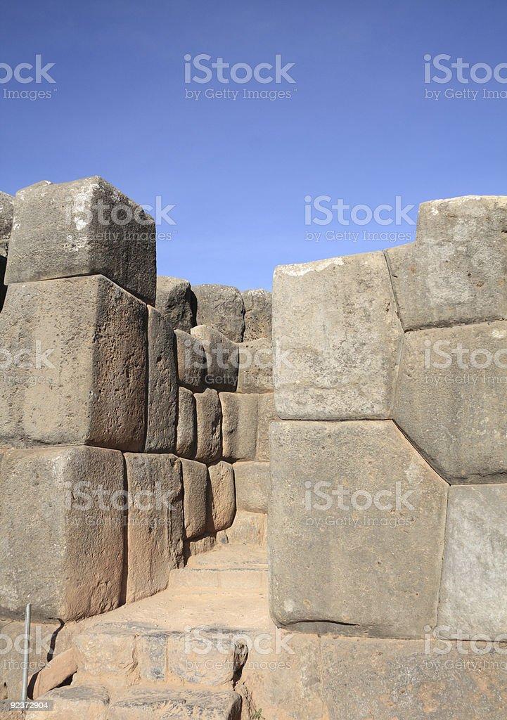 Sacsayhuaman ruins royalty-free stock photo