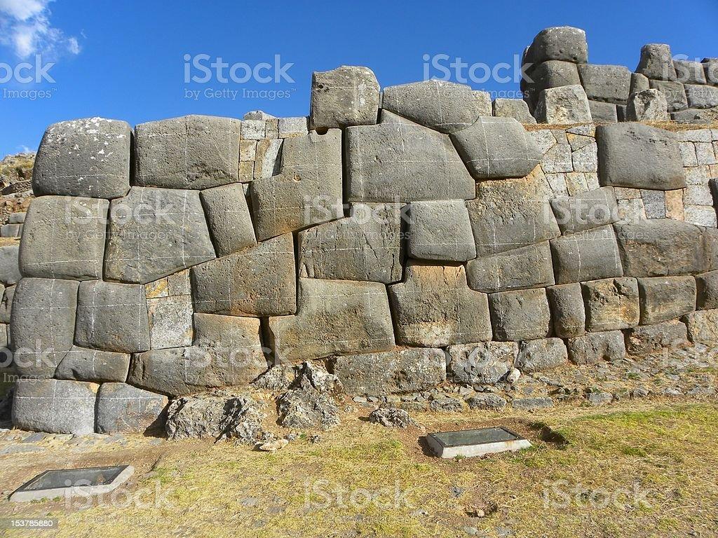 Sacsayhuaman Ruins,Cuzco, Peru. stock photo