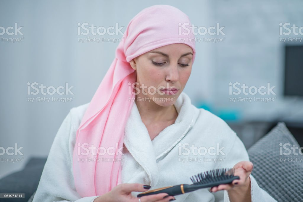 Sad About Hair Loss - Royalty-free 25-29 Years Stock Photo