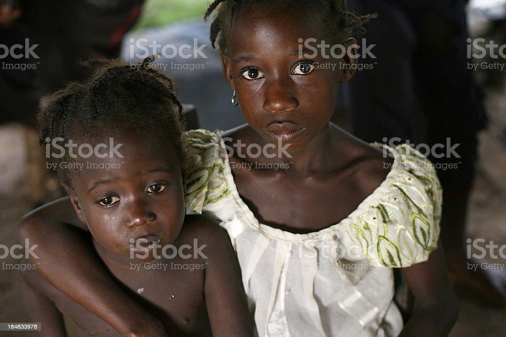 Sad African Girls stock photo