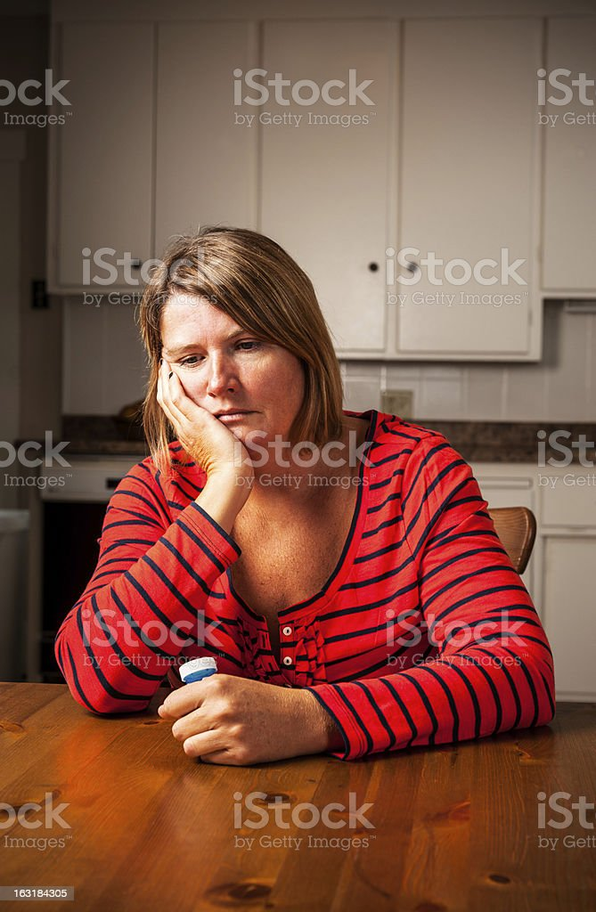 Sad and depressed royalty-free stock photo