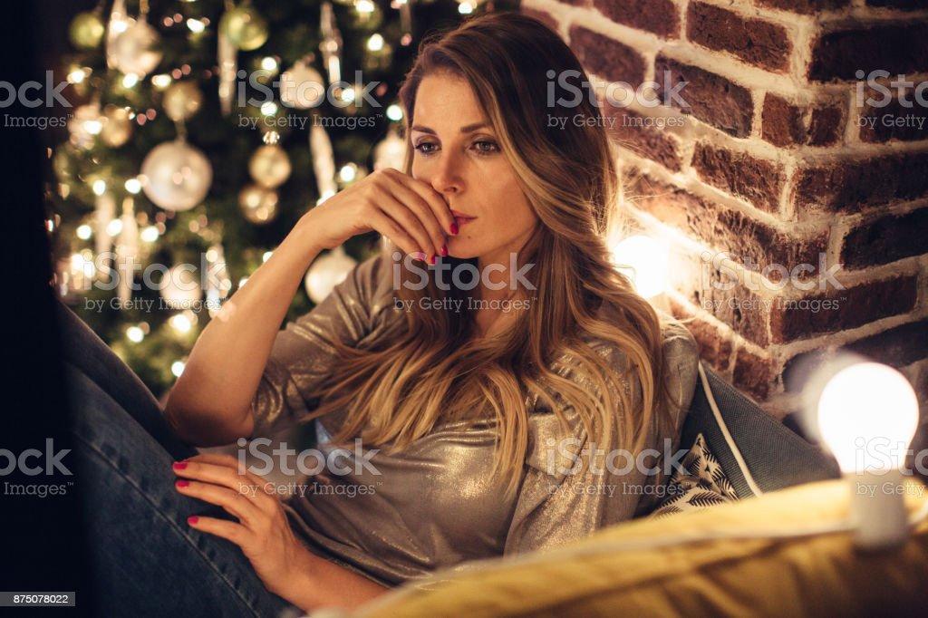 Traurig und einsam Weihnachten – Foto