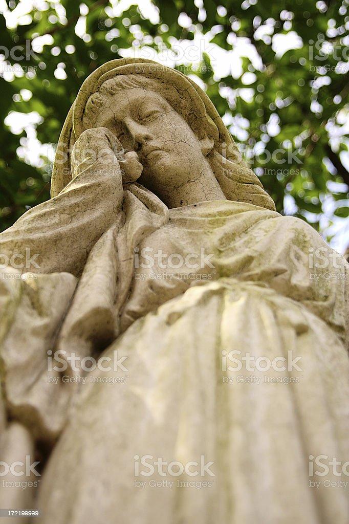 Sad angel crying royalty-free stock photo