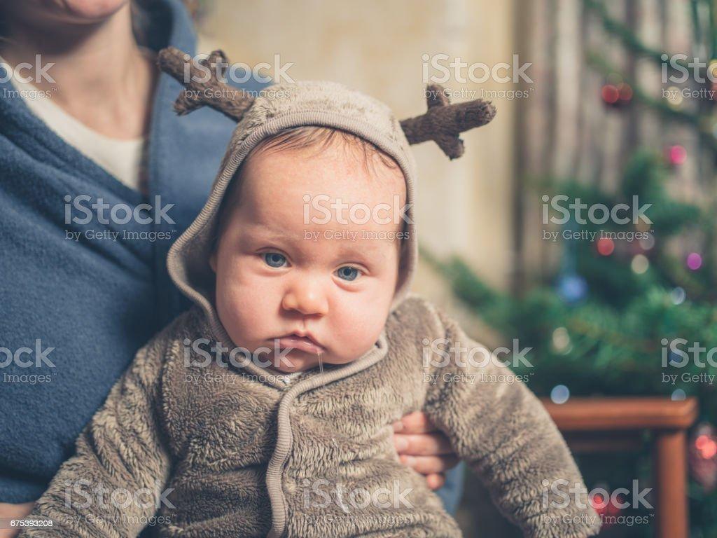 Sad Baby At Christmas Foto De Stock Y Más Banco De Imágenes