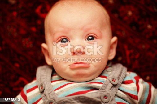 istock Sad baby 183758213