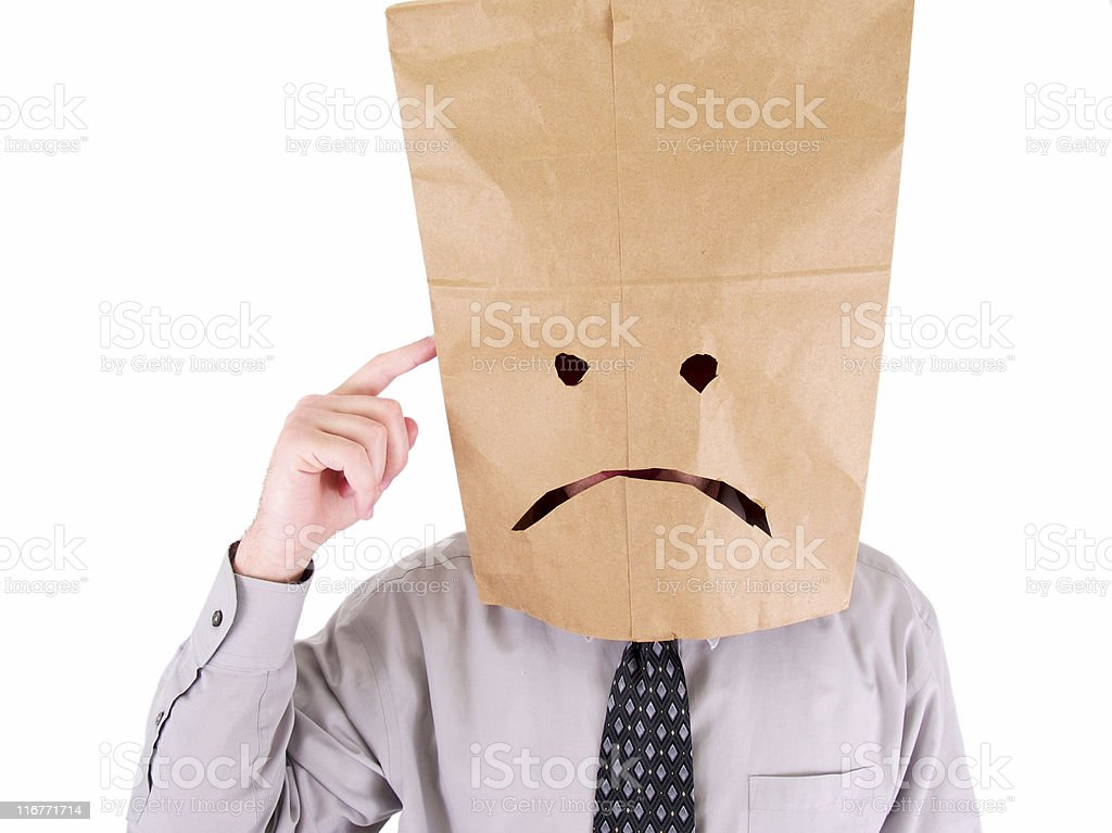Sad Bag Head royalty-free stock photo