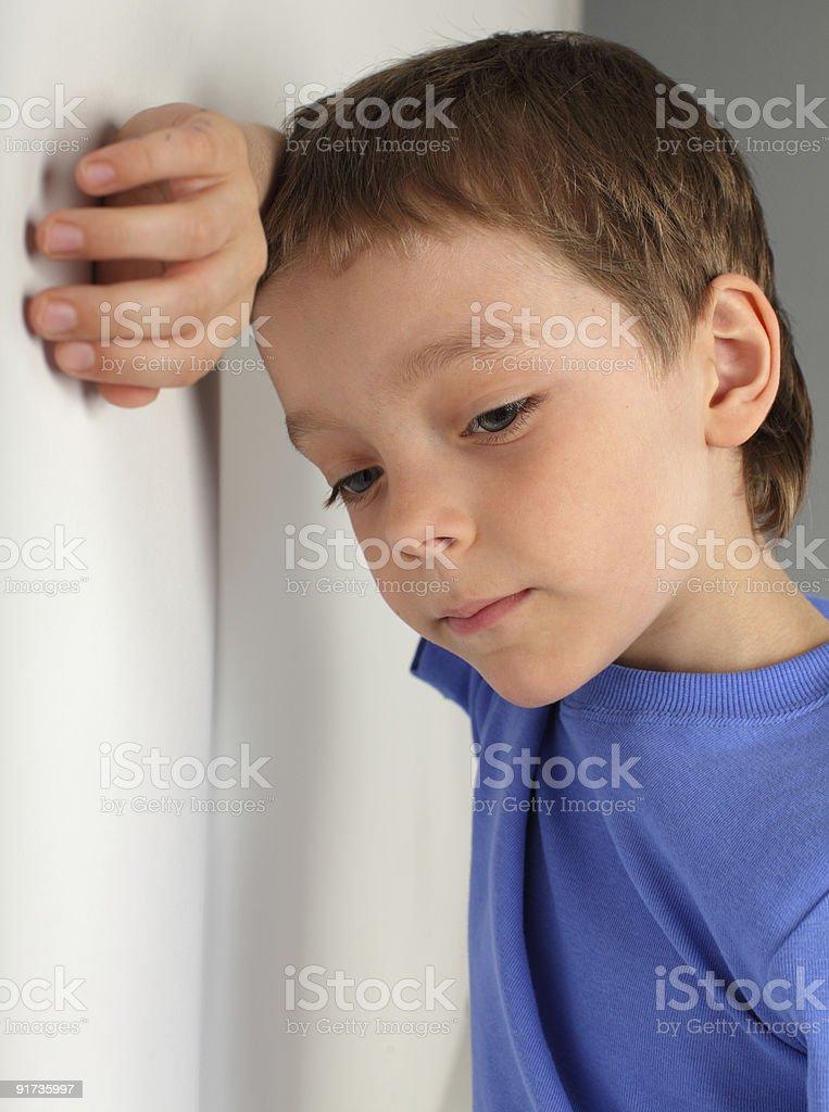 Sad boy royalty-free stock photo