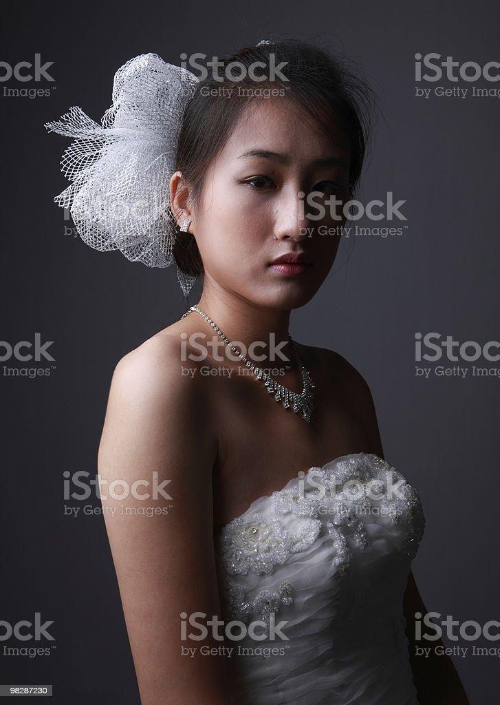 Sad bride royalty-free stock photo