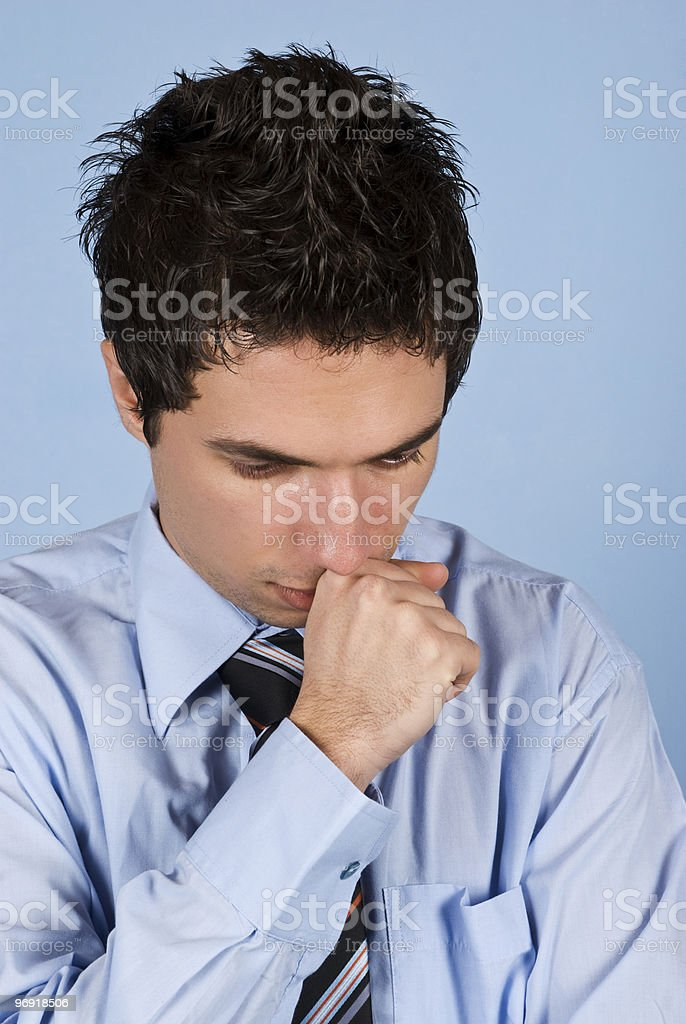 Sad businessman royalty-free stock photo