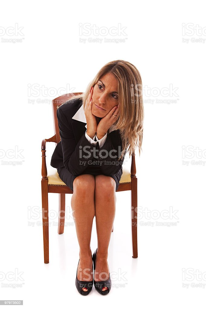 Sad businesswoman royalty-free stock photo