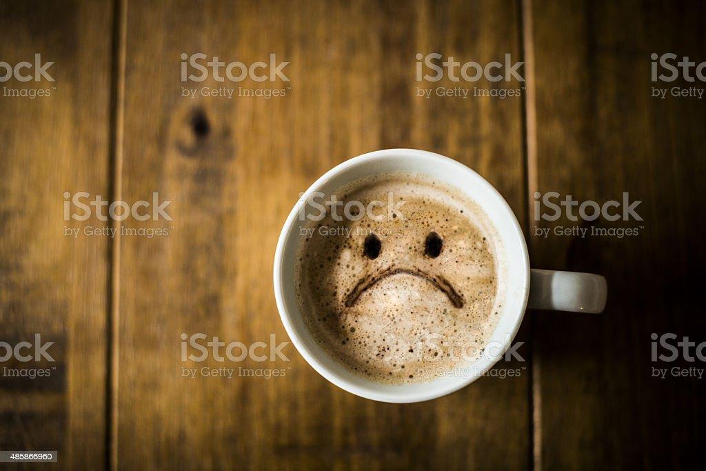 Sad Coffee Cup stock photo