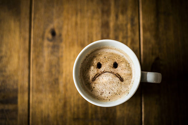 Sad Coffee Cup stock photo