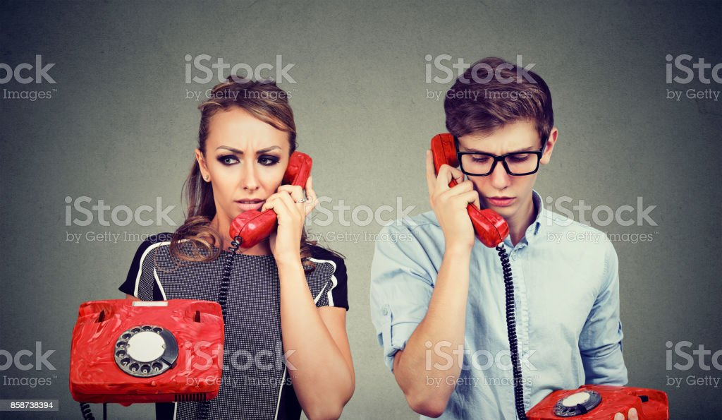 Image result for sad couple with phone istock