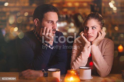 544331632istockphoto Sad couple having a conflict 623298094