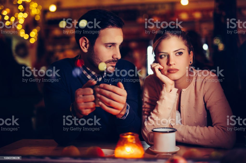 Sad couple having conflict and relationship problems Sad young couple having conflict and relationship problems Adult Stock Photo