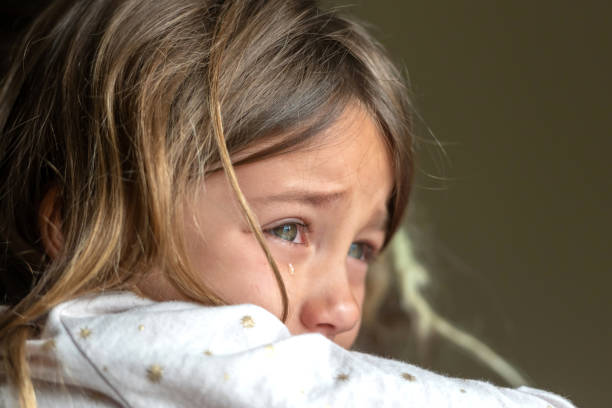 Sad crying little girl Sad crying caucasian little girl crying stock pictures, royalty-free photos & images