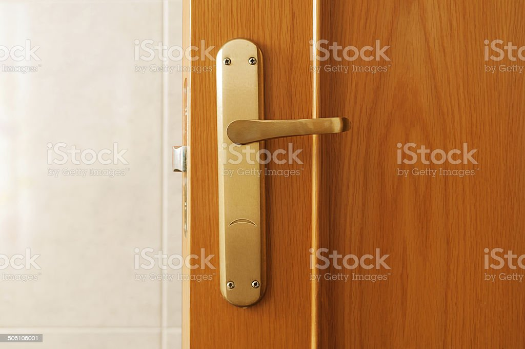 Sad door handle stock photo