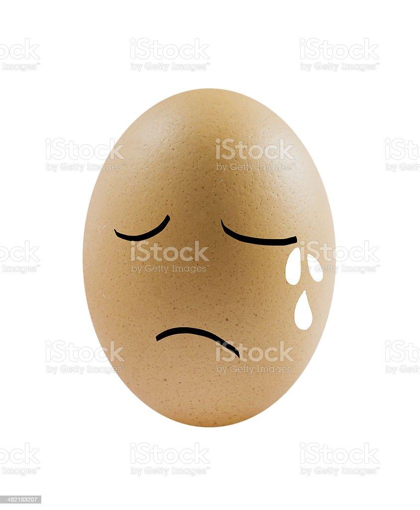 sad eggs royalty-free stock photo