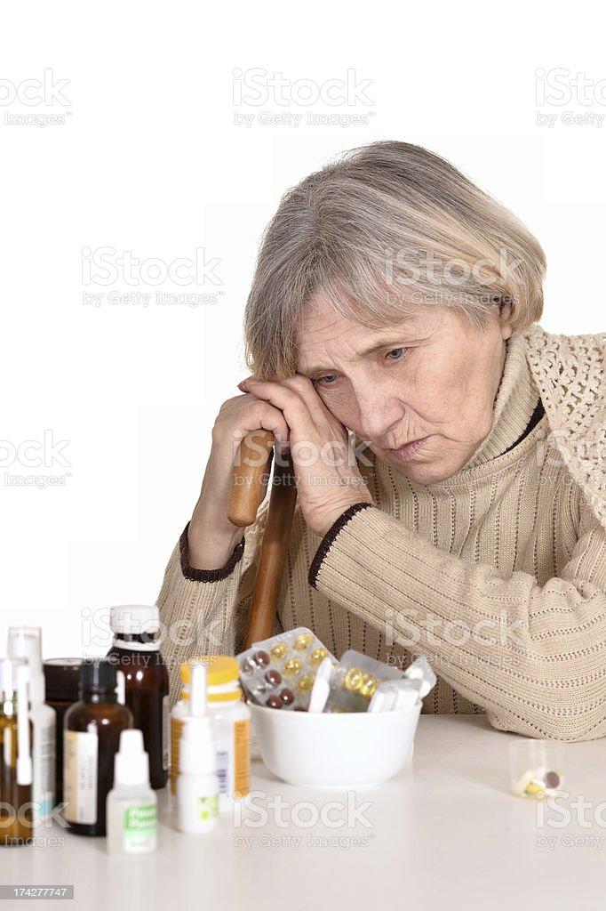 sad elderly woman royalty-free stock photo