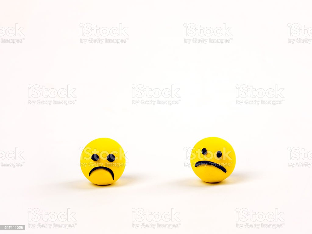 sad emoticons stock photo