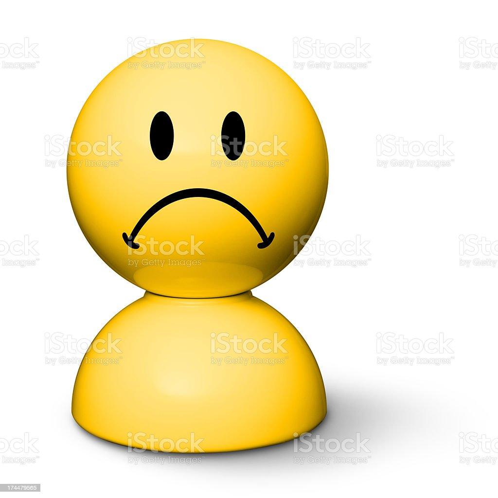 Sad face royalty-free stock photo