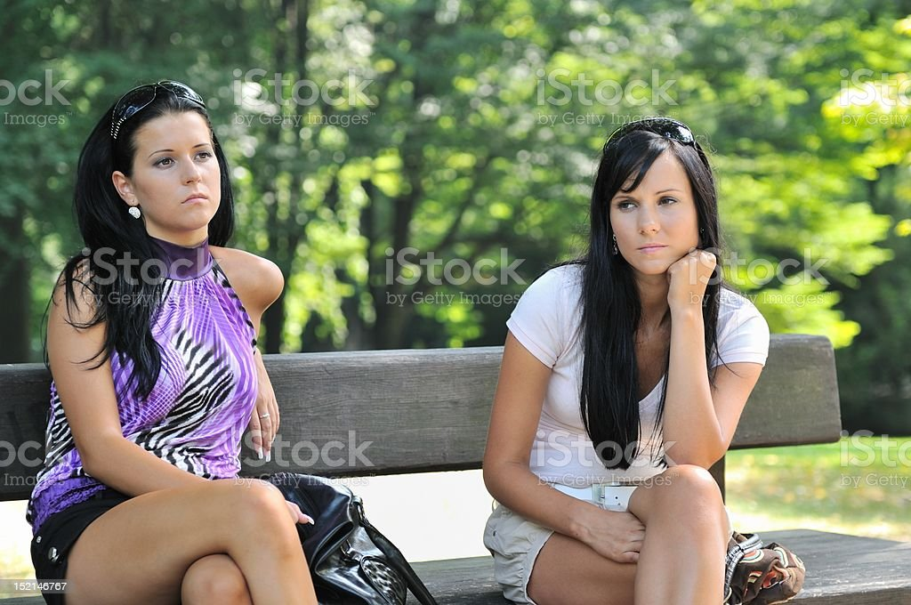Sad friends stock photo