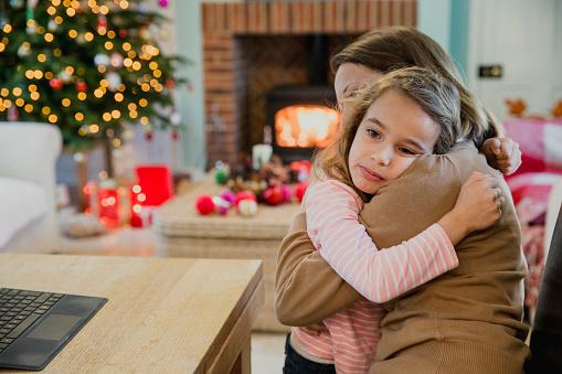 istock Sad Girl At Christmas 855046014