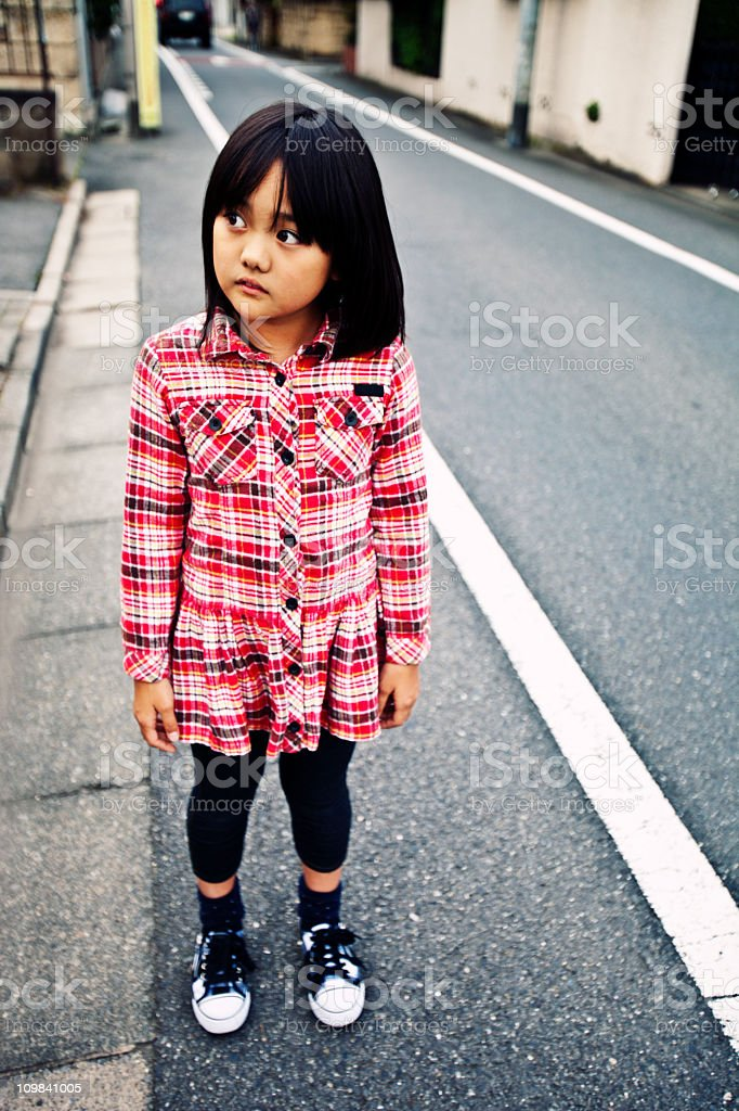 sad girl portrait royalty-free stock photo