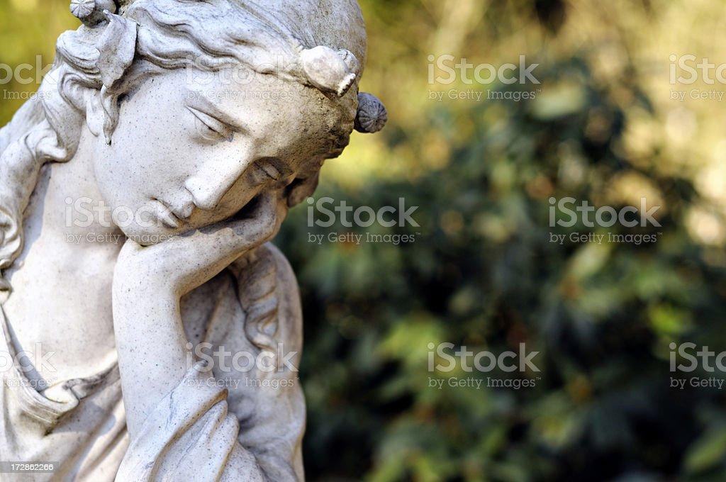 sad girl sculpture royalty-free stock photo