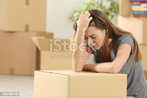 istock Sad homeowner moving home after eviction 646463132