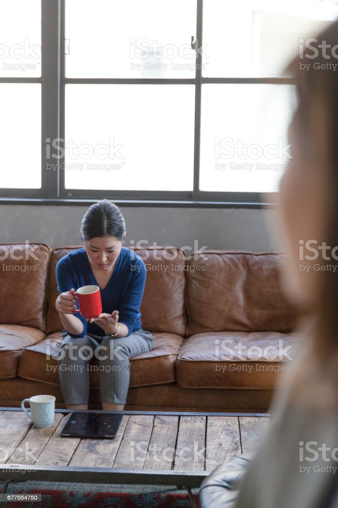 Sad Japanese Woman royalty-free stock photo