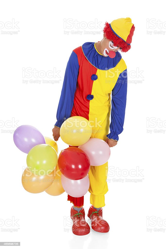 Sad Joker With Balloons Stock Photo Download Image Now