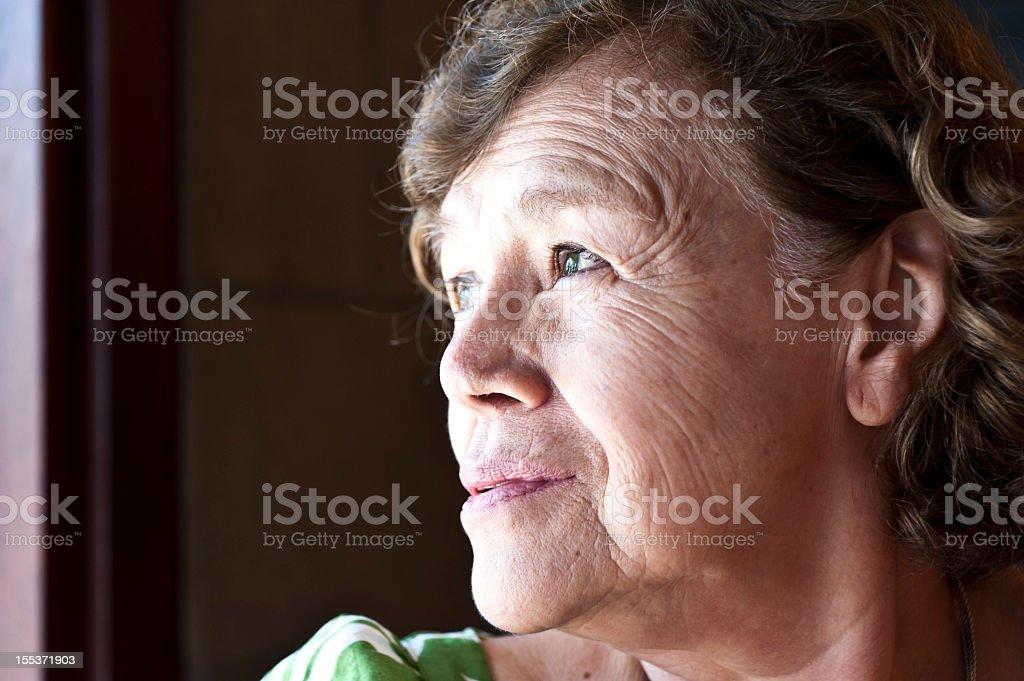 Sad Lady royalty-free stock photo