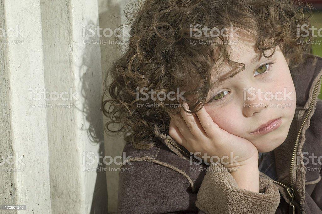 Sad Little Boy (grief series) royalty-free stock photo