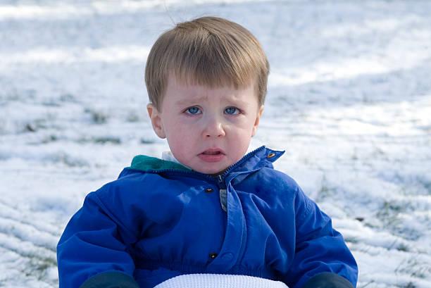 Traurige kleine Junge – Foto