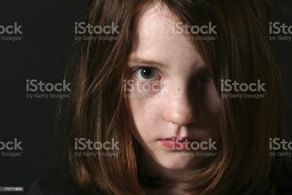 Sad Little Girl stock photo