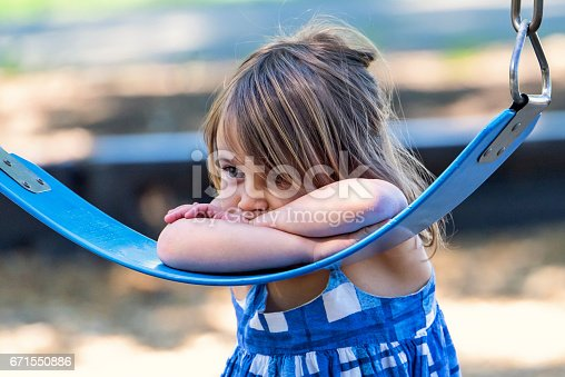 istock Sad little girl 671550886